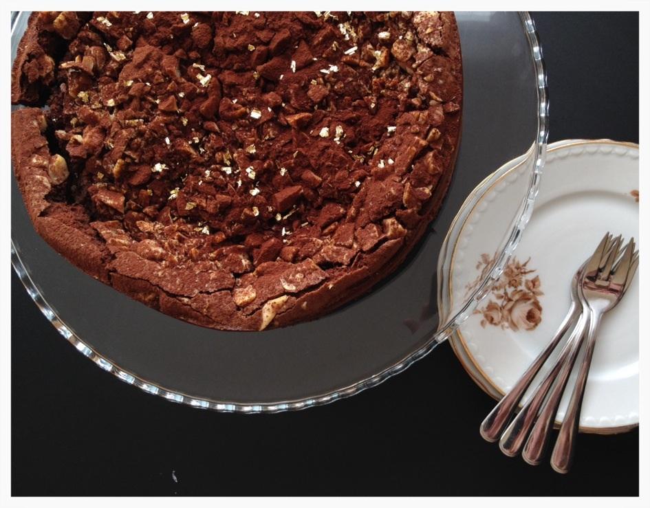 chokoladekage med marcipan
